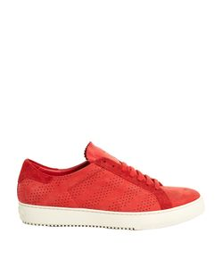 OFF-WHITE | Perforated Low-Top Nubuck-Leather Trainers