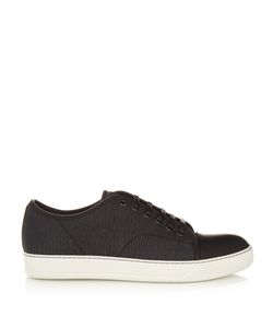 Lanvin | Lace-Up Low-Top Grained-Leather Trainers