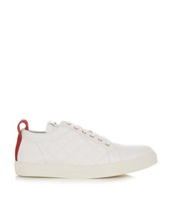 Balmain | Low-Top Quilted-Leather Trainers