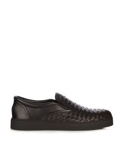 Bottega Veneta | Intrecciato Slip-On Leather Trainers