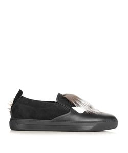 Fendi | Bag Bugs Leather Trainers