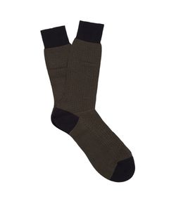 PANTHERELLA | Fabian Herringbone Cotton-Blend Socks