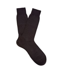 PANTHERELLA | Chalcot Chevron-Knit Cotton-Blend Socks
