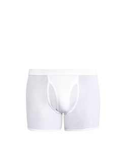 THE WHITE BRIEFS | Wil Cotton-Jersey Boxer Trunks