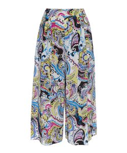 Etro | Paisley-Print Wide-Leg Cropped Silk Trousers