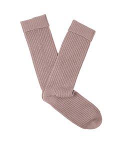 PEPPER & MAYNE | Ribbed-Knit Cashmere Socks