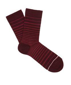Falke | Striped Cotton-Blend Socks