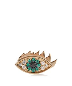 Delfina Delettrez | Emerald Diamond Yelloweye Earring