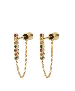 Ileana Makri | Rainbow Stone Yellowearrings