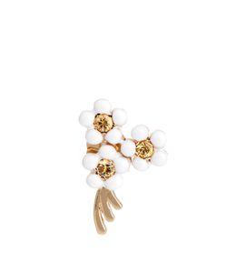 ALISON LOU | Sapphire Enamel Yellowdaisy Earring