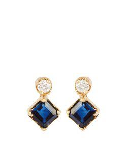 LOREN STEWART | Diamond Sapphire Earrings