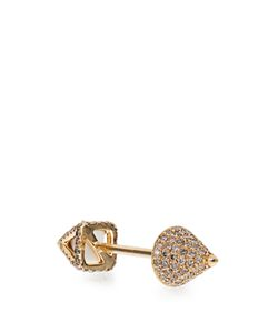 ELISE DRAY | Diamond Agate Piercing Facette Earring