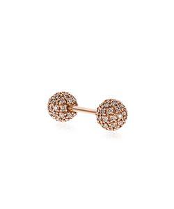 ELISE DRAY   Diamond Pinkpiercing Balls Earring