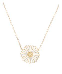 ALISON LOU | Diamond Enamel Yellowdaisy Necklace