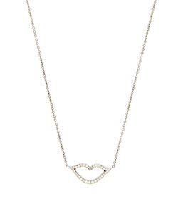 RAPHAELE CANOT | Keep Smiling Diamond Enamel Whitenecklace