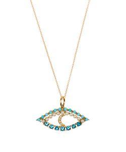 Ileana Makri | Diamond Apatite Turquoise Pearl Necklace