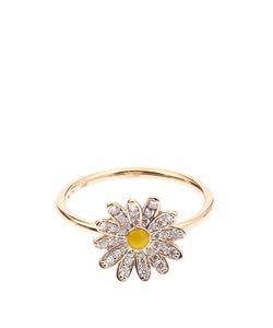 ALISON LOU | Diamond Enamel Yellowdaisy Ring