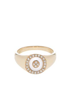ANISSA KERMICHE | Diamond Mother-Of-Pearl Yellowring