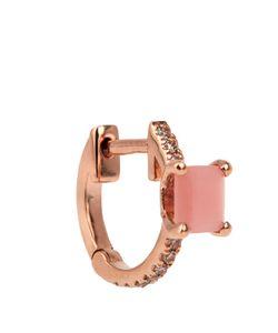 ELISE DRAY   Diamond Quartz Pinkmini-Hoop Earring