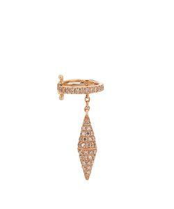ELISE DRAY   Diamond Pinkear Cuff