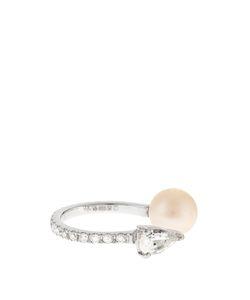 ANISSA KERMICHE | Diamond Sapphire Pearl Whiteear Cuff