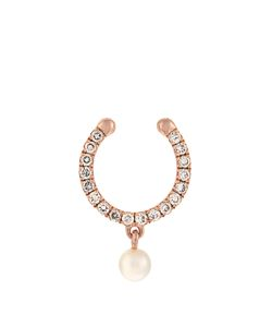 ANISSA KERMICHE | Diamond Pearl Rosenose Ring