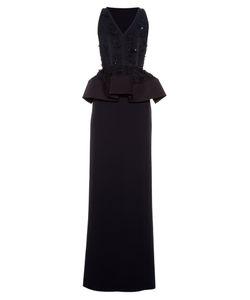 Balenciaga | Embellished Peplum Crepe Gown
