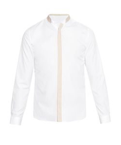 MATHIEU JEROME | Double Granddad-Collar Cotton Shirt