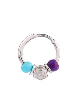 ELISE DRAY | Diamond Agate Turquoise Mini Rock Earring