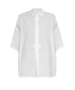 Y'S BY YOHJI YAMAMOTO   Point-Collar Contrast-Sleeve Shirt
