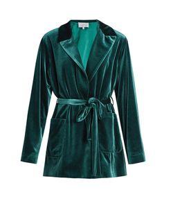 Luisa Beccaria | Tie-Waist Velvet Jacket