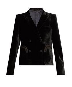 BLAZÉ MILANO | Spencer Etoile Herringbone-Embossed Velvet Blazer