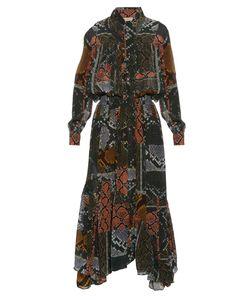 Preen Line | Martha Snake-Print Tie-Neck Dress