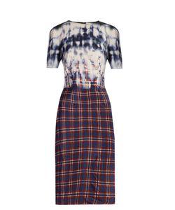 Altuzarra | Glaze Tie-Dye And Checked Dress