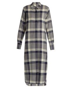 Adam Lippes | Long-Sleeved Checked Wool Shirtdress