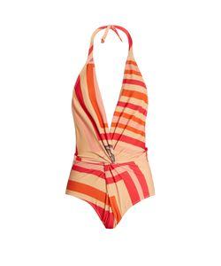 KATIE EARY | Geo-Print Twist-Front Swimsuit