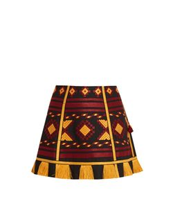 Vita Kin | Croatia Embroidered Linen Mini Skirt
