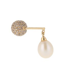 ELISE DRAY | Diamond Pearl Yellowbig Balls Earring