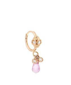 MARIA TASH | Diamond Sapphire Roseearring