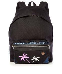 Saint Laurent   Palm Tree-Embellished Backpack