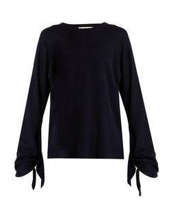 Tibi | Tie-Sleeve Wool Sweater