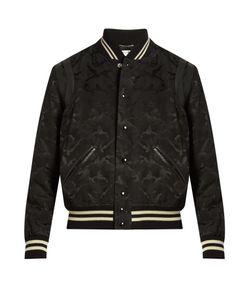 Saint Laurent   Camouflage-Jacquard Cotton-Blend Bomber Jacket
