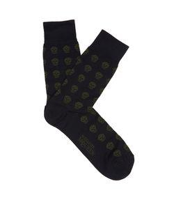 Alexander McQueen | Skull-Jacquard Cotton-Blend Socks