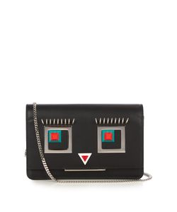 Fendi | Square Eyes Leather Cross-Body Bag
