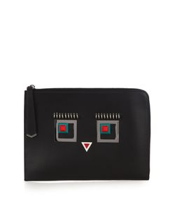 Fendi | Square Eyes Leather Pouch