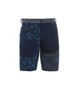 LONGJOURNEY | Raw-Edge Flat-Front Shorts
