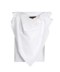 Vivienne Westwood Anglomania | Sueno Frayed-Edge Cotton Blouse