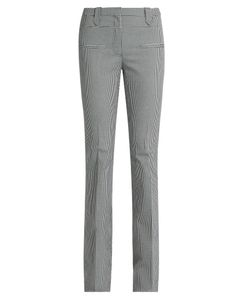 Altuzarra | Serge Hounds-Tooth Wool-Blend Flared Trousers