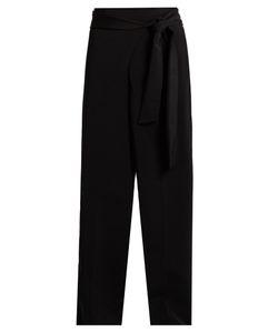 Tibi | Tie-Waist High-Rise Wide-Leg Trousers