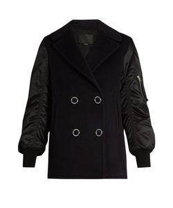 Alexander Wang | Double-Breasted Wool-Blend Bomber Jacket